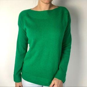 BODEN Alpaca blend green boatneck sweater